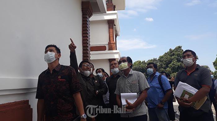 Gedung Baru Bocor dan Retak, DPRD Kota Denpasar Sidak SMPN 14 Denpasar