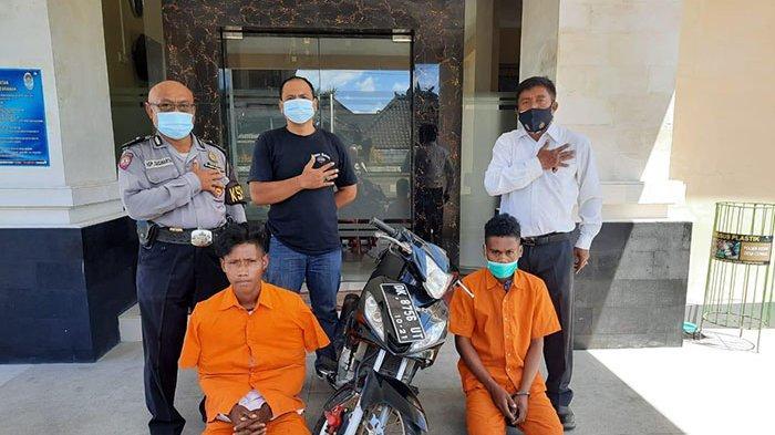 2 Pelaku Curanmor Diamankan Polisi, Pelaku Gunakan Kunci Palsu Gondol Sepeda Motor Korban di Tabanan