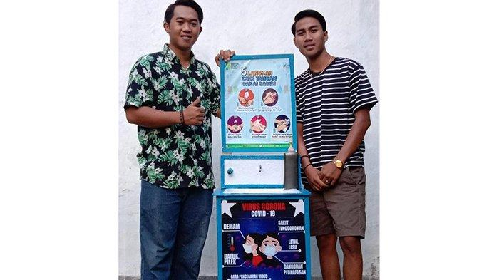 Ingin Terlibat Dalam Pencegahan Covid-19, Pemuda Dusun Yehbiyu Ciptakan Alat Cuci Tangan Otomatis