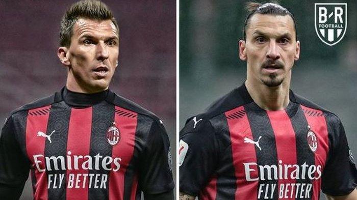 Catatan Ngeri Duet Maut AC Milan Ibrahimovic-Mandzukic, Monster 73 Tahun, 54 Trofi, dan 774 Gol