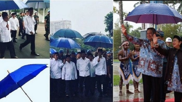 Wiranto Lempar Lelucon, Payung Biru Jokowi Ternyata Warisan SBY