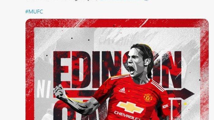 Edinson Cavani Terpaksa Menunda Debutnya di Man United, Ini Sebabnya