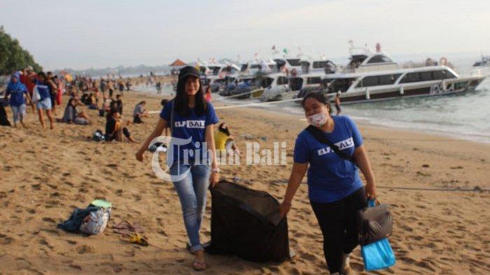 3 Jam Punguti Plastik, Komunitas Penggemar Super Junior Gelar Aksi Bersih-bersih di Pantai Sanur