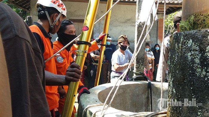 Tubuh Dadong Rungrung di Gianyar Kembali Terjatuh Saat Diangkat dari Sumur, Tangis Keluarga Pecah