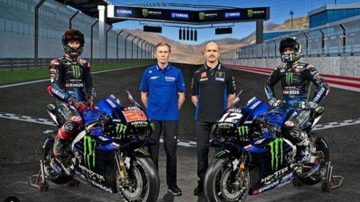 Yamaha Resmi Luncurkan Tim MotoGP 2021, Maverick Vinales dan Fabio Quartararo, Tanpa Valentino Rossi