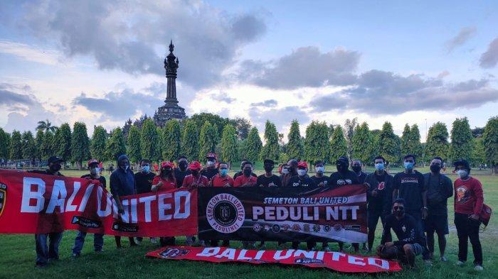10 Komunitas Fans Bali United Turun ke Jalan, Galang Dana Bantu Korban Bencana NTT