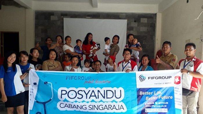 FIFGROUP Singaraja Gelar Program Posyandu di Kelurahan Kaliuntu