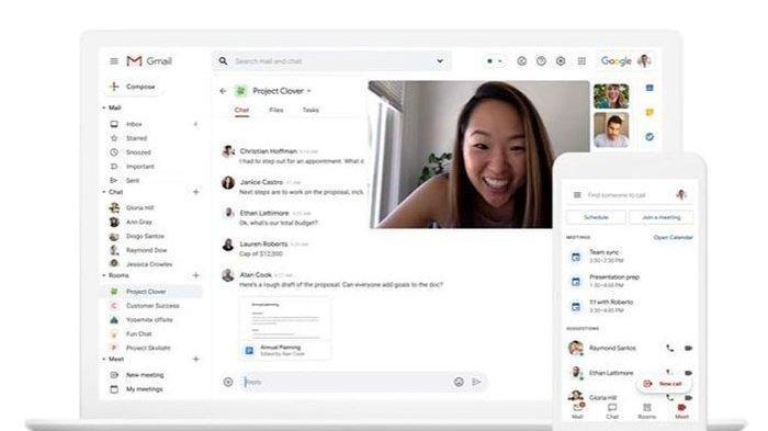 Tingkatkan Produktivitas Pengguna, Gmail Selipkan Fitur Chatting dan Video Call