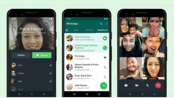 Fitur joinable call untuk panggilan video grup di WhatsApp.