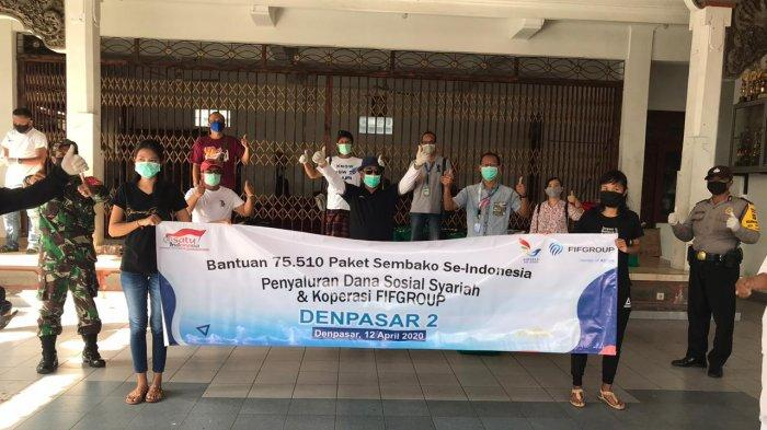 FIFGroupDenpasar 2 Salurkan 248 Paket Sembako