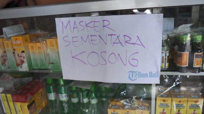 Harga Satu Kotak Masker Mencapai Rp 130 Ribu di Jembrana