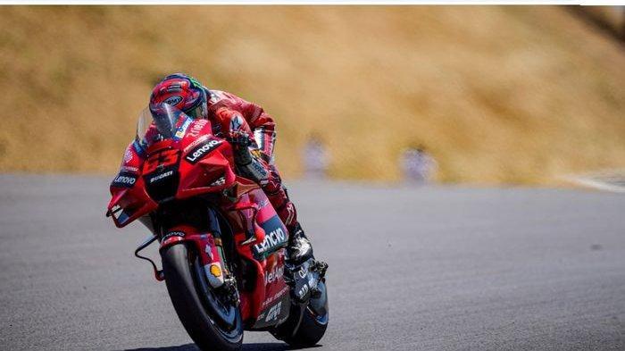 Hasil FP2 MotoGP Spanyol 2021: Francesco Bagnaia Unjuk Gigi, Rossi-Marquez di Papan Bawah