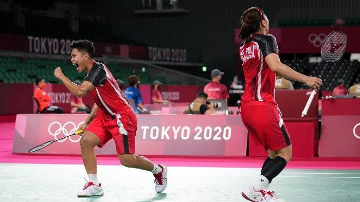 Ganda putri Indonesia, Greysia Polii/Apriyani. Ini Jadwal Siaran Langsung Final Badminton Olimpiade Tokyo 2021 Greysia Polii/Apriyani vs Chen/Jia.