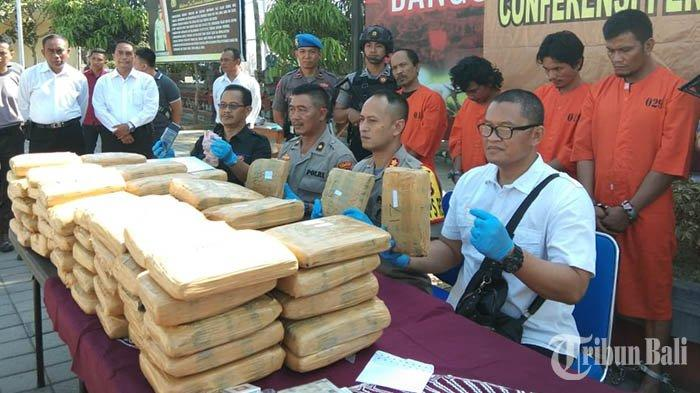 Jaringan Jakarta Pasok 97,8 Kg Ganja ke Bali, Polisi Tangkap 4 Orang yang Semula Mengaku Jual Batik