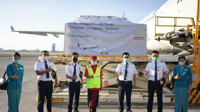 Angkut 30 Ton Komoditas Ekspor Bali, Garuda Indonesia Mulai Layani Rute Kargo Denpasar-Hongkong