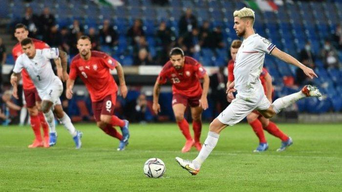 HASIL Swiss Vs Italia: Pemain Terbaik Eropa Jorginho Gagal Penalti, Italia Gagal Menang