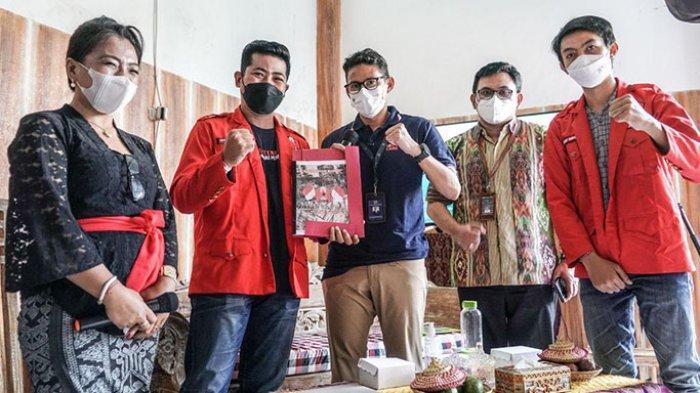 Menparekraf Temui Pelaku UMKM di Bali, Bahas Strategi Pemulihan Sektor Ekonomi Kreatif