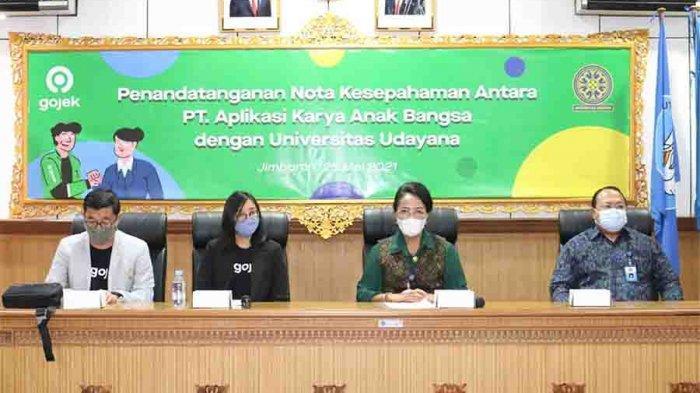 Dukung Tri Dharma Perguruan Tinggi Berbasis Teknologi, Gojek Sinergi dengan Universitas Udayana