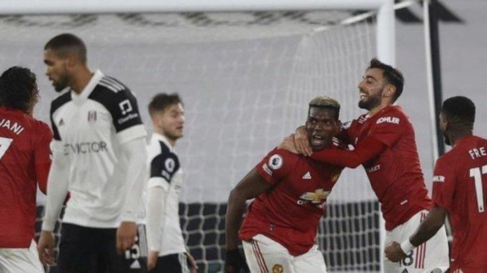 Fulham Vs Man United, Pogba Cetak Gol & Ukir Rekor Pribadi, Setan Merah Kembali Pimpin Liga Inggris