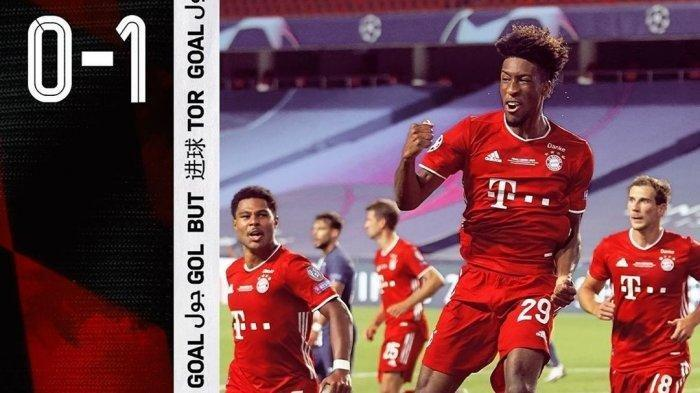 Gol tunggal Kingsley Coman bawa Bayern Munchen jadi juara Liga Champions