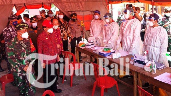 Gubernur Koster, Pangdam dan Kapolda Bali Cek Penerapan Rapid Test Antigen di Pelabuhan Gilimanuk