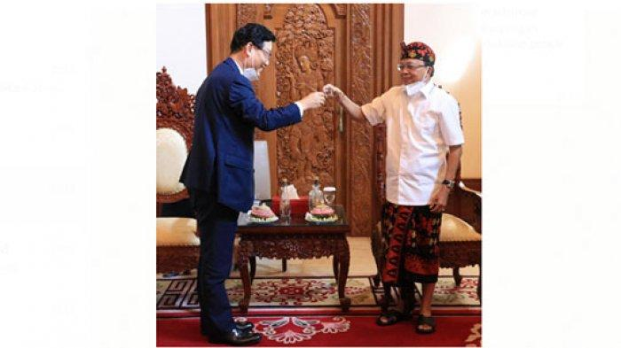 Tos Arak Bali, Gubernur Koster-Dubes Korsel Bahas Infrastruktur,Ekoturisme sampai Pertukaran Pelajar