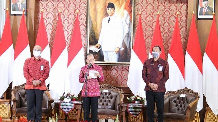 Lewat Pertemuan Virtual, Gubernur Koster Resmikan Penggunaan Kain Endek Bali Setiap Hari Selasa