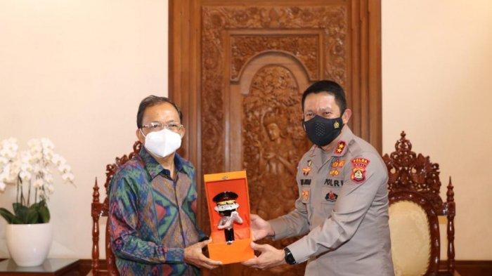 Bali Terbaik Penanggulangan Covid-19, Gubernur Bali & Danrem Wira Satya Dapat Pin Emas dari Kapolri