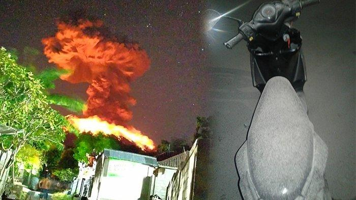 Suara Dentuman Terdengar Keras, Besakih Diguyur Hujan Pasir Pasca Erupsi Gunung Agung