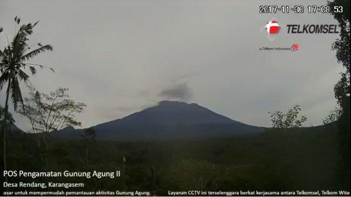 TERKINI, Asap di Puncak Gunung Agung Nyaris Tak Teramati, PVMBG Sebut Kemungkinan ini