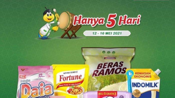 HANYA 5 HARI, Promo Indomaret 12-16 Mei 2021, Beras 54.900, Minyak Goreng 25.300, Instan Mi 12.000