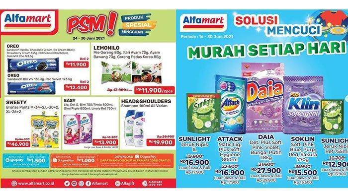 HARI INI, Promo Alfamart 26 Juni 2021: Telur Rp15.900, Oreo Beli 2 Rp11.900, Shampoo-Deterjen Murah