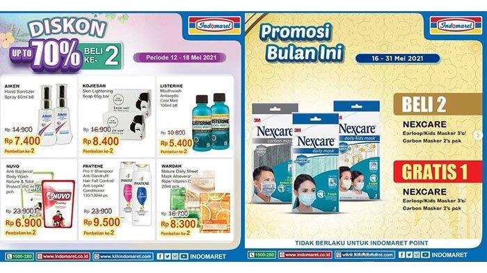 HARI INI! PROMO Indomaret 17 Mei 2021: Diskon Up To 70%, Masker Nexcare Gratis, SGM Eksplor Hemat