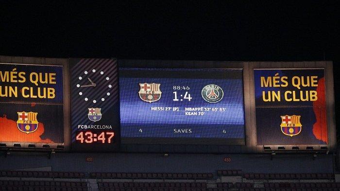 Hasil Barcelona vs PSG, Hattrick Mbappe Samai Rekor Striker Ini dan Peluang Blaugrana Makin Berat