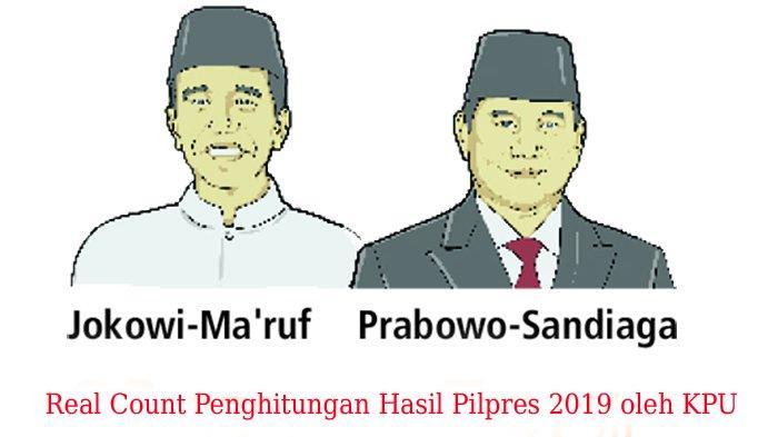 Perhitungan Suara Sementara Pilpres 2019 dari Real Count KPU, Selasa 30 April 2019 Pagi
