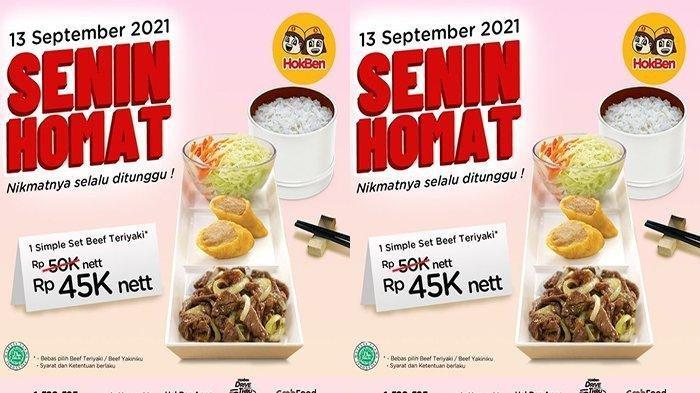 PROMO HokBen Senin 13 September 2021: Simple Set Beef Teriyaki Diskon Jadi Rp45 Ribu