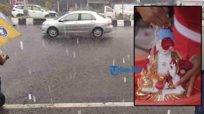Hujan dan Imlek Benarkah Terkait Rezeki? Denpasar Bali Diprediksi Hujan Petir Siang Hari