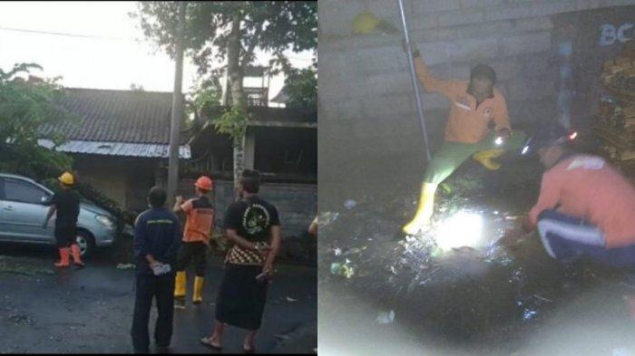 Hujan Lebat di Gianyar, Rumah Tergenang Air Got dan Satu Mobil Tertimpa Pohon