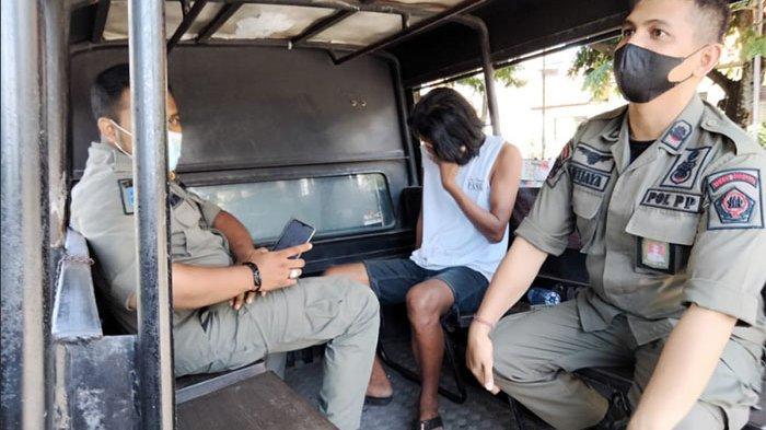 Seorang Pria Tertangkap Tangan Lakukan Aksi Pemalakan di Denpasar,Lalu Diamankan ke Kantor Satpol PP
