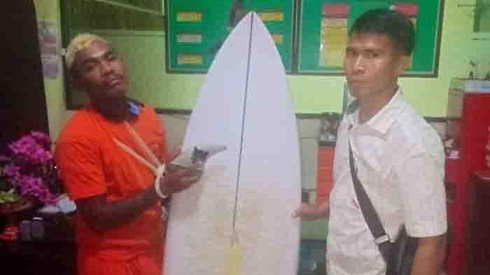 Curi Papan Surfing di Pantai Pererenan, Residivis Ditangkap Polsek Mengwi