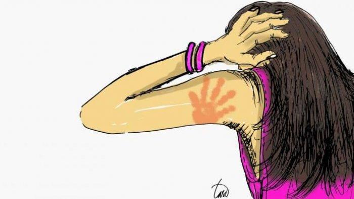 Ilustrasi istri jadi korban Kekerasan Dalam Rumah Tangga (KDRT)