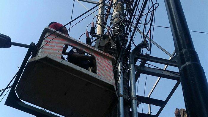 Waduh Lampu PJU Padam di Bedahulu Denpasar
