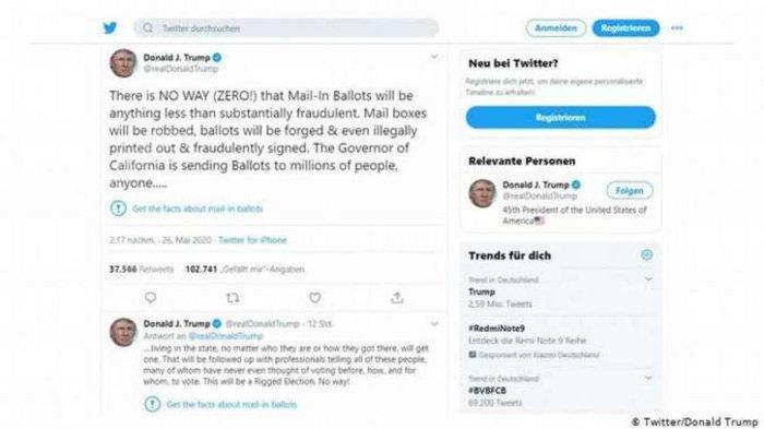 Tak Terima Cuitannya Disebut 'Tak Berdasar', Donald Trump Ancam Tutup Perusahaan Media Sosial