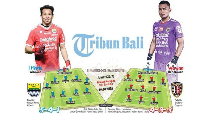 Duel Big Match Persib vs Bali United Andalkan Pemain Serba Bisa
