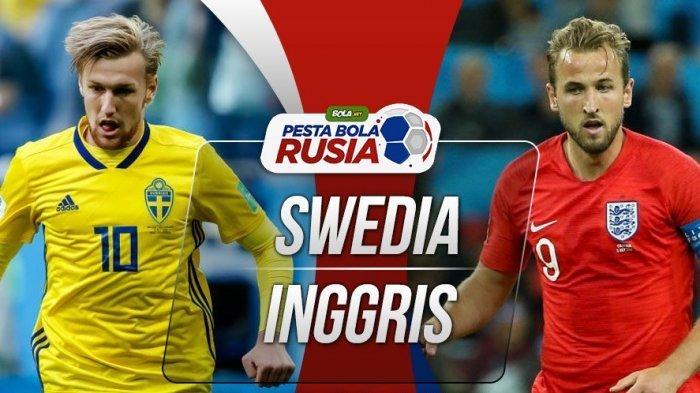 Menang 2-0 Inggris Pupuskan Laju Swedia ke Babak Semifinal Piala Dunia 2018