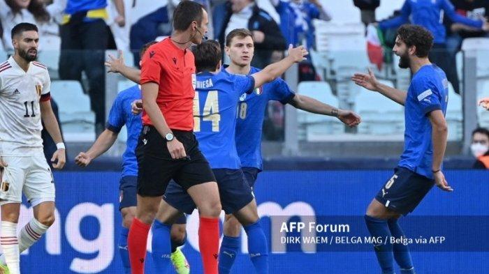 HASIL ITALIA VS BELGIA, Bintang Inter Milan Bersinar, Gli Azzurri Rebut Juara 3