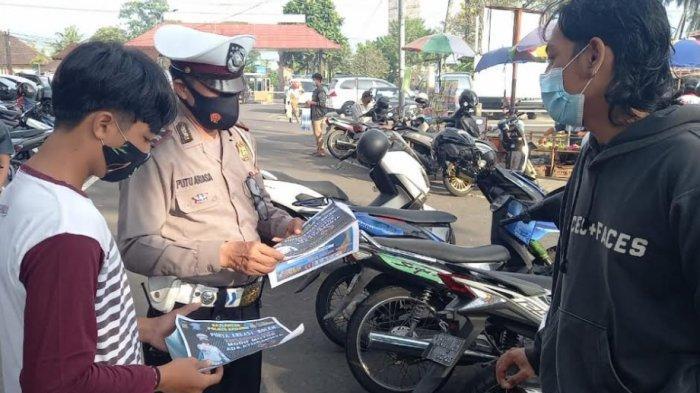 HUT Ke-75 Bhayangkara, Satlantas Polres Badung Fokus Berikan Imbauan Penggunaan Knalpot Brong