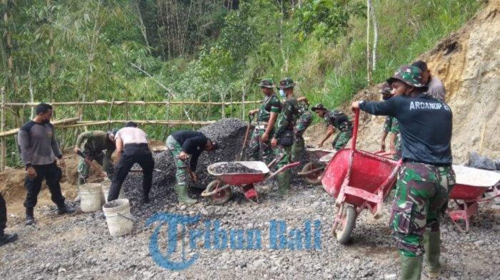 TMMD 112 Resmi Dibuka, Targetkan Akses Jalan Baru Sepanjang 850 Meter di Desa Pengotan