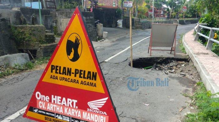 Jalan Jebol di Pering Blahbatuh Gianyar Akan Diperbaiki Tahun Ini
