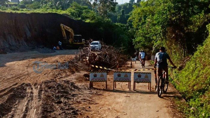 Puluhan Pengendara Putar Balik, Jalan Sukawati-Tegenungan Gianyar Sedang Diperbaiki